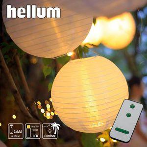 Lampion LED weiß Leuchte Licht Deko Ø 30cm Fernbedienung Party Outdoor warmweiß