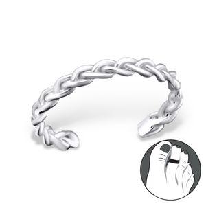 Zehenring Silber 925: Zehring geflochten
