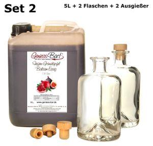 Feigen - Granatapfel Balsam Essig 5L inkl. 2 Flaschen u. 2 Ausgießer 70 % Fruchtanteil 5% Säure
