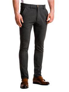 Ombre Herren Hose Chino mit Taschen Elegant Slim Fit Casual Regular  Locker für Männer 9 Farben S-XXL