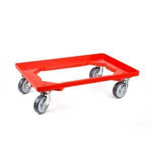Transportroller 4 Lenkrollen rot
