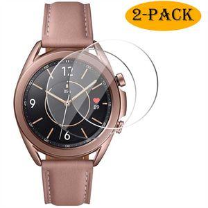 2x Samsung Galaxy Watch 3 41mm Panzerfolie Display Schutz Glas Folie Hart-Glas 9H Full-Screen