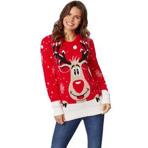 dressforfun Weihnachtspullover Rudi Rentier für Frauen - S