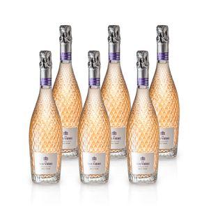 La Rouvière ROSÉ BRUT Schaumwein, Paket mit:6 Flaschen