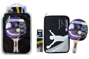 Donic-Schildkröt Tischtennis Premium-Geschenkset Ovtcharov 800, 1 Schläger, 3 Bälle 3* ITTF, wertige Schlägerhülle, hochwertiges Komplettset