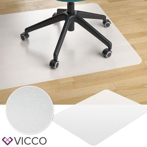 VICCO Bodenschutzmatte 90x120 Bürostuhlunterlage Bodenmatte Stuhlunterlage weiß