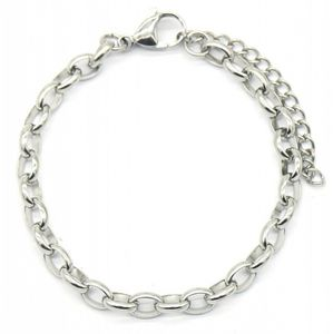 gliederarmband Chain Damen 5 mm Edelstahl silber