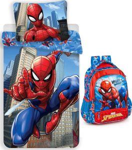 Marvel´s Spiderman - Rucksack und Bettwäsche-Set, 135x200 & 80x80 cm