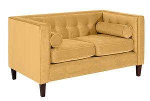 Max Winzer Jeronimo Sofa 2-Sitzer - Farbe: gelb - Maße: 154 cm x 85 cm x 80 cm; 2962-2100-2044266-F07