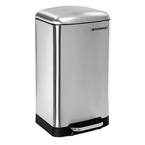 SONGMICS Mülleimer 30L Treteimer Edelstahl für Küche Inneneimer Abfallbehälter Müllbehälter silbern LTB01L