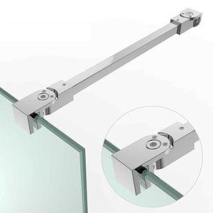 Haltestange Stabilisator Dusche Duschabtrennung Walk in Glaswand ESG Kürzbar Verstellbar 6 - 10 mm HS21/30 275 mm