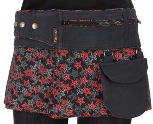 Wickelrock, Cacheur, Sidebag - Schwarz/Sterne, Damen, Mehrfarbig, Baumwolle, Größe: L/XL