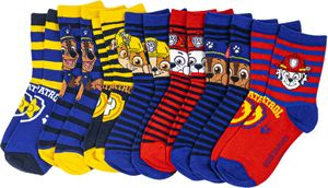 Bunt gemischtes 7er-Sparpaket - Kindersocken mit verschiedenen Motiven von PAW PATROL, Frozen oder Fireman Sam - , Schuhgröße:23/26, Motiv:Paw Patrol - boy