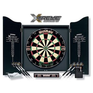 Winmau Dartboard Set XTREME inklusive Cabinet für Steeldart Dartscheibe Steel Dartboard