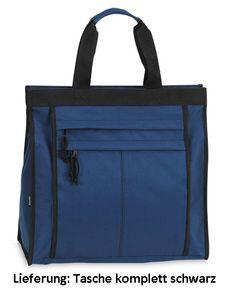 Einkaufstasche Shopper Tasche Umhängetasche Reißverschluss Innen- & Außenfächer - Schwarz
