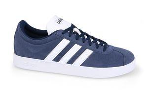 adidas VL Court 2.0 Herren Sneaker Blau Schuhe, Größe:43 1/3