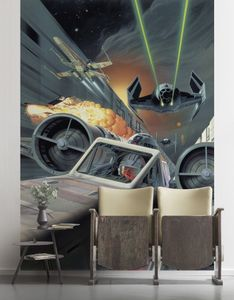 """Komar Vlies Fototapete """"Star Wars Classic Death Star Trench Run"""" - Größe: 200 x 280 cm (Breite x Höhe), 4 Bahnen"""