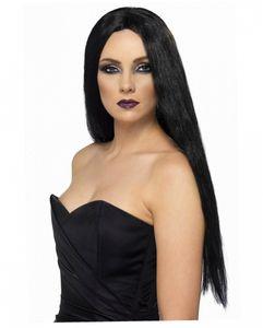 Schwarze Halloween Hexenperücke Fiona