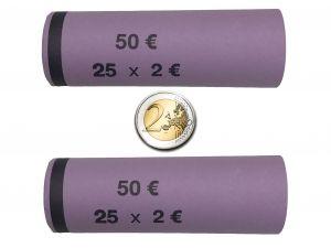 3709 Vorgefertigte Münzhülsen für 2 Euro Münzen ( 128 Stück )