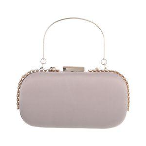 Ital-Design Damen Taschen Abendtaschen & Clutches Rosa Beige