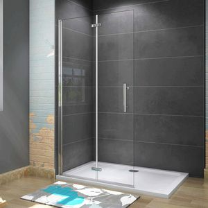 90x185cm Faltbar+drehbar Nano ESG Glas Duschwand Duschtür Duschabtrennung Dusche