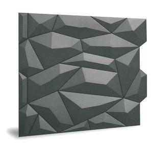 Dekorpaneel 3D Profhome 3D 705475 Glacier Smoked Gray Einrichtungspaneel glatt mit abstraktem Muster matt grau 2 m2
