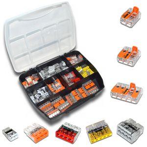 WAGO Sortimentsbox mit 105 Stück Verbindungsklemmen   Serie 221 und 2273   Box Steck-/ Hebelklemmen