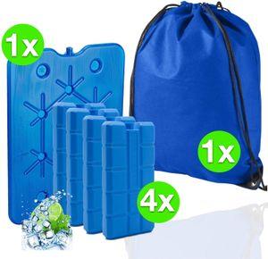 6 in 1 - Kühlakku Set mit XXL Akku und 4X Kühlelemente und Kühltasche/Kühlbox - Kühlaccu Akku Ice 24 h Packs EIS Kühlakkus
