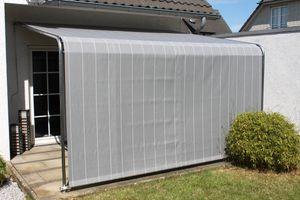 Leco Terrassenüberdachung Komfort grau - Maße: 300 cm x 400 cm x 260 cm; 27000114