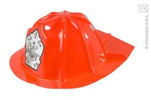 12er Set Feuerwehrhelm rot - Einheitsgröße für Kinder, dünner Kunststoff
