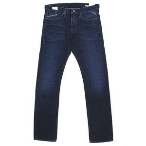 18435 Replay, Waitom Regular Slim,  Herren Jeans Hose, Denim, darkblue, W 29 L 32