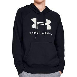 Under Armour Damen Fitness-Kapuzensweatshirt Rival Sportstyle Hoodie schwarz, Größe:S