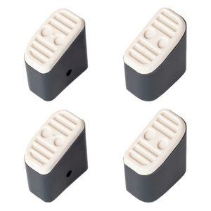 Hailo Fuß-Set in grau mit Softgrip für Klapptritt Hailo D60 und Step-ke/L90