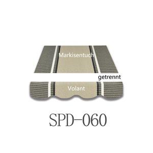 Vana 4.5x3m Markisenstoff Markisenbespannung Markisentuch mit Volant SPD060