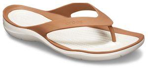 crocs Swiftwater Flip Women Bronze / Oyster Croslite Größe: 37/38 Normal