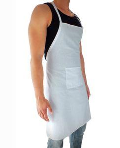 sinnlein Schürze Kochschürze Latzschürze Gastronomie Grillschürze Küchenschürze Weiß