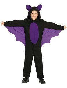 Fiestas Guirca kostüm Fledermaus junior schwarz Größe 122/134