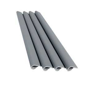 PVC Sichtschutzstreifen Dopppelstabmatten Stabmattenzaun 35m Rolle 30 Befestigungsclips Grau