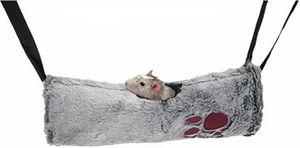 hängematte Snuggles Nagetier 38 x 36 cm Plüsch grau