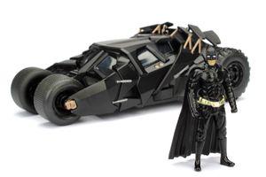 Dickie Toys Batman The Dark Knight Batmobile 1:24 Die-cast Spielzeugauto mit zu öffnenden Türen inkl. Batman Figur, 253215005