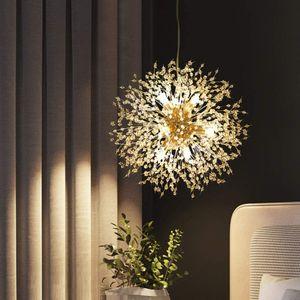 Löwenzahn Kronleuchter 8-Licht Golden  Pendelleuchte für Schlafzimmer, Wohnzimmer, Esszimmer