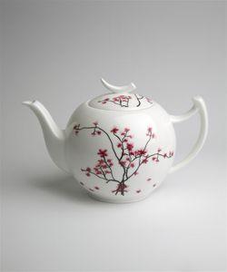 Teekanne CHERRY BLOSSOM weiß mit Kirschblüten 1,5 Liter Bone China TeaLogic