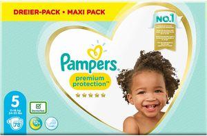 Pampers Premium Protection Windeln, Gr. 5, 11kg-16kg, 3 x 26 (1 x 78 Windeln)