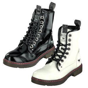 Mustang 1235-503 Schnürstiefelette Combat Boots Stiefeletten , Schuhgröße:39 EU, Farbe:Schwarz