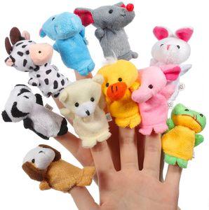 Fingerpuppen Baby, 10 Stück Fingerpuppen Tiere Set für Baby und Kinder