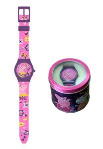 Peppa Wutz Armbanduhr (Analog) Kinderuhr Uhr Watch Pig rosa lila pink Mädchen