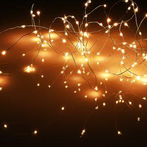 LED Lichterkette Silberdraht 20 LEDs Länge: 105cm