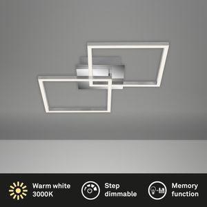 LED Deckenleuchte drehbar dimmbar 24 W chrom-silberfarbig Briloner Leuchten