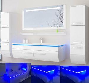 ***** Badmöbel Set mit  120 cm Weiss *****✔ Komplett vormontiert ✔