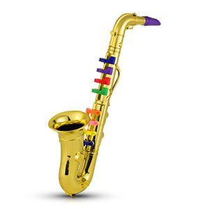 Muslady Kinder Saxophon mit 8 farbigen Tasten/Noten. L. 415 mm